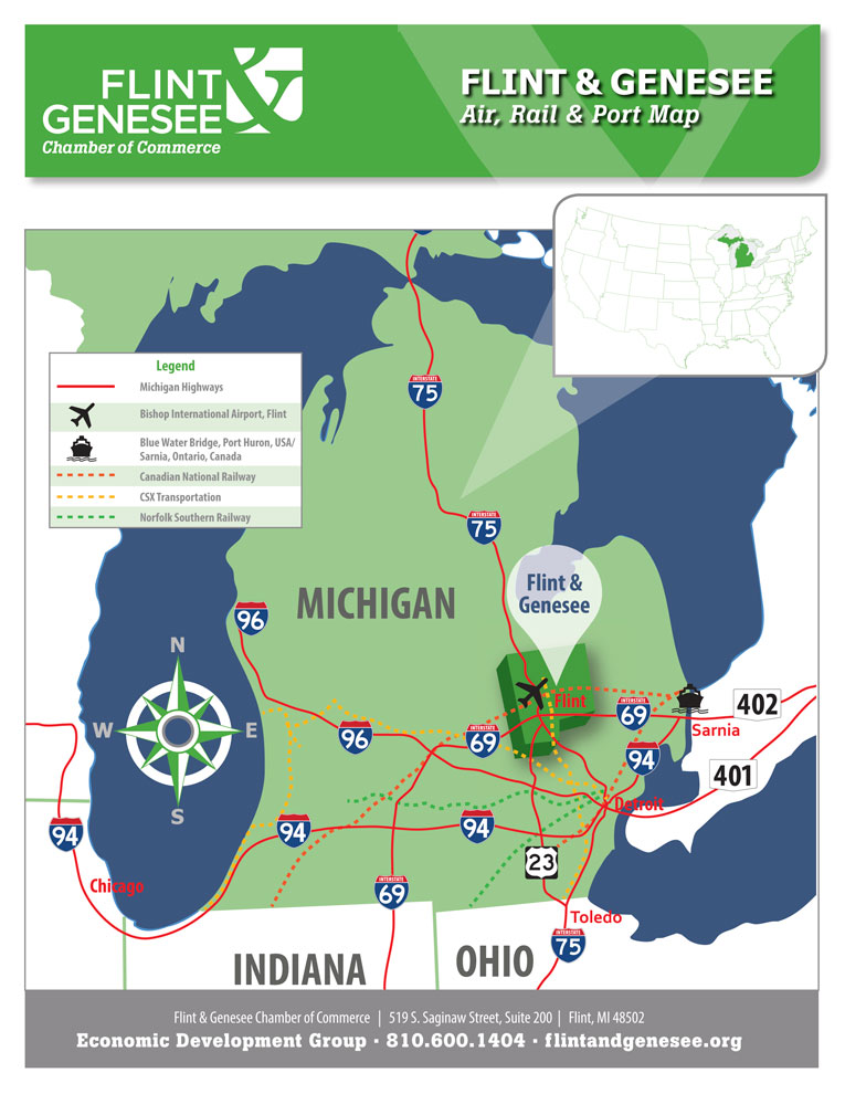 Area Maps | Flint and Genesee Chamber of Commerce