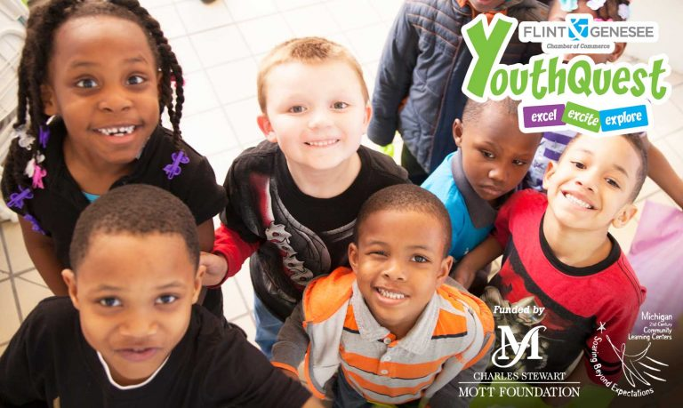 YouthQuest is a free after school initiative operated by the Flint & Genesee Chamber of Commerce