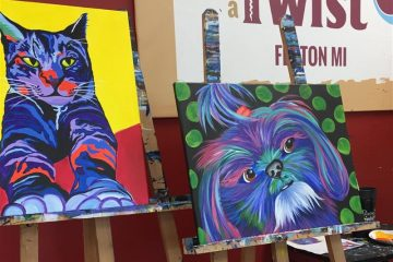 Painting with a Twist, indoor recreation, things to do, Fenton, Michigan