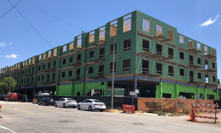 The Marketplace Apartments taking shape in downtown Flint