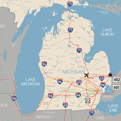 Genesee County Infrastructure Map