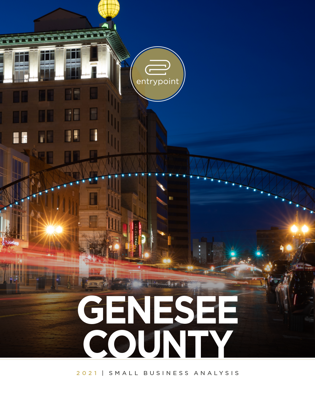 Cover of the 2021 Genesee County Small Business Analysis Report
